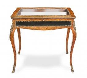A Louis Xvi Style Gilt Metal Mounted Vitrine Table
