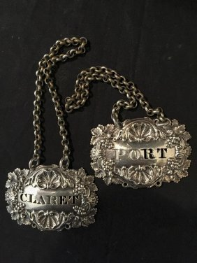 A Pair Of Victorian Sterling Silver Decanter Coasters,