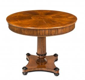 An Italian Marquetry Inlaid Walnut Centre Table, 20th