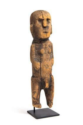 A Carved Figure Probably Polynesian (circa 1900)