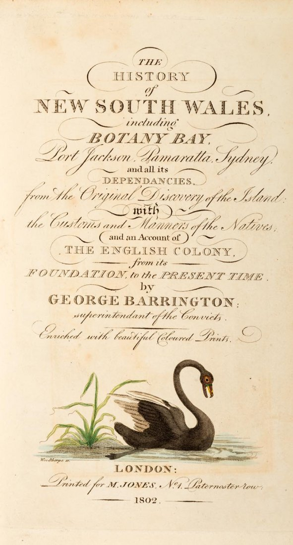 Barrington, George. An Account of a Voyage to New South