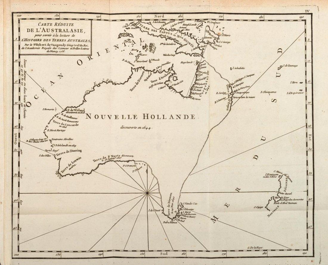 Brosses, Charles de. Histoire des Navigations aux