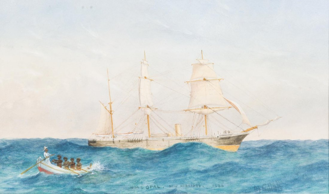 D.F. GILLETT (ACTIVE LATE 19TH CENTURY)  HMS Opal, New