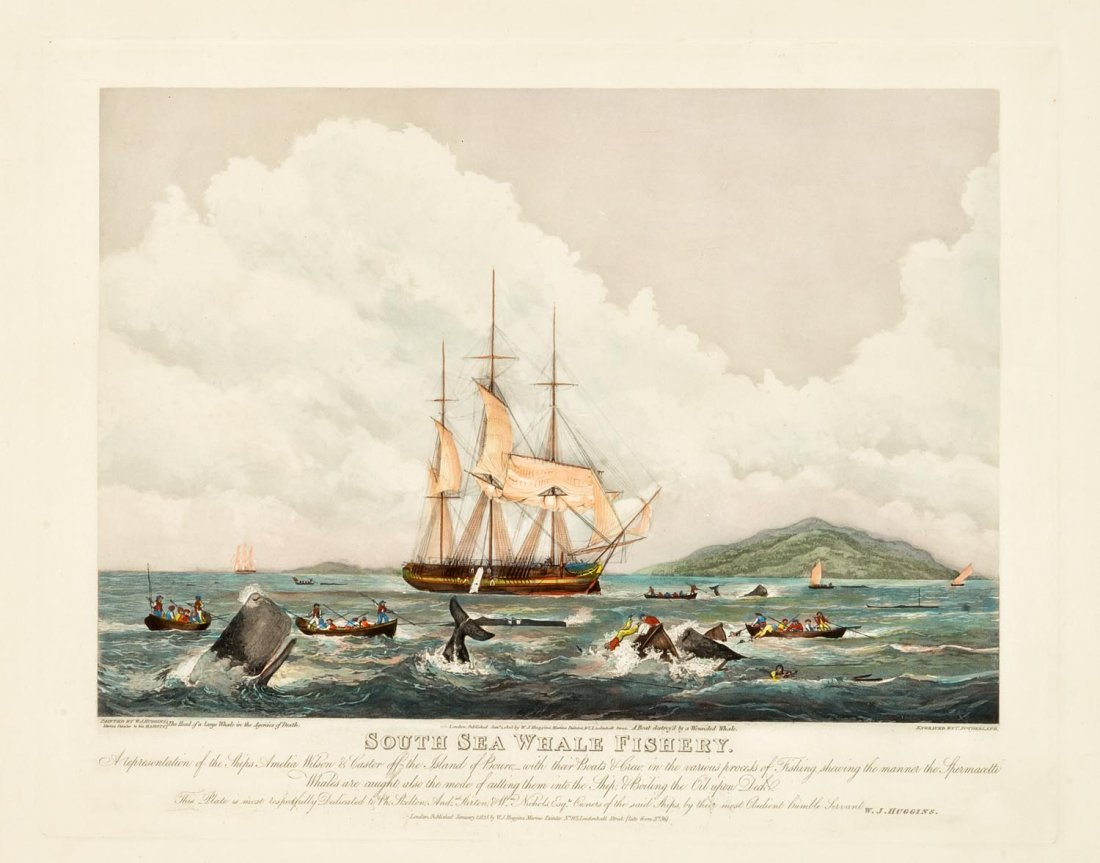 WILLIAM HUGGINS (1781-1845)  South Sea Whale Fishery