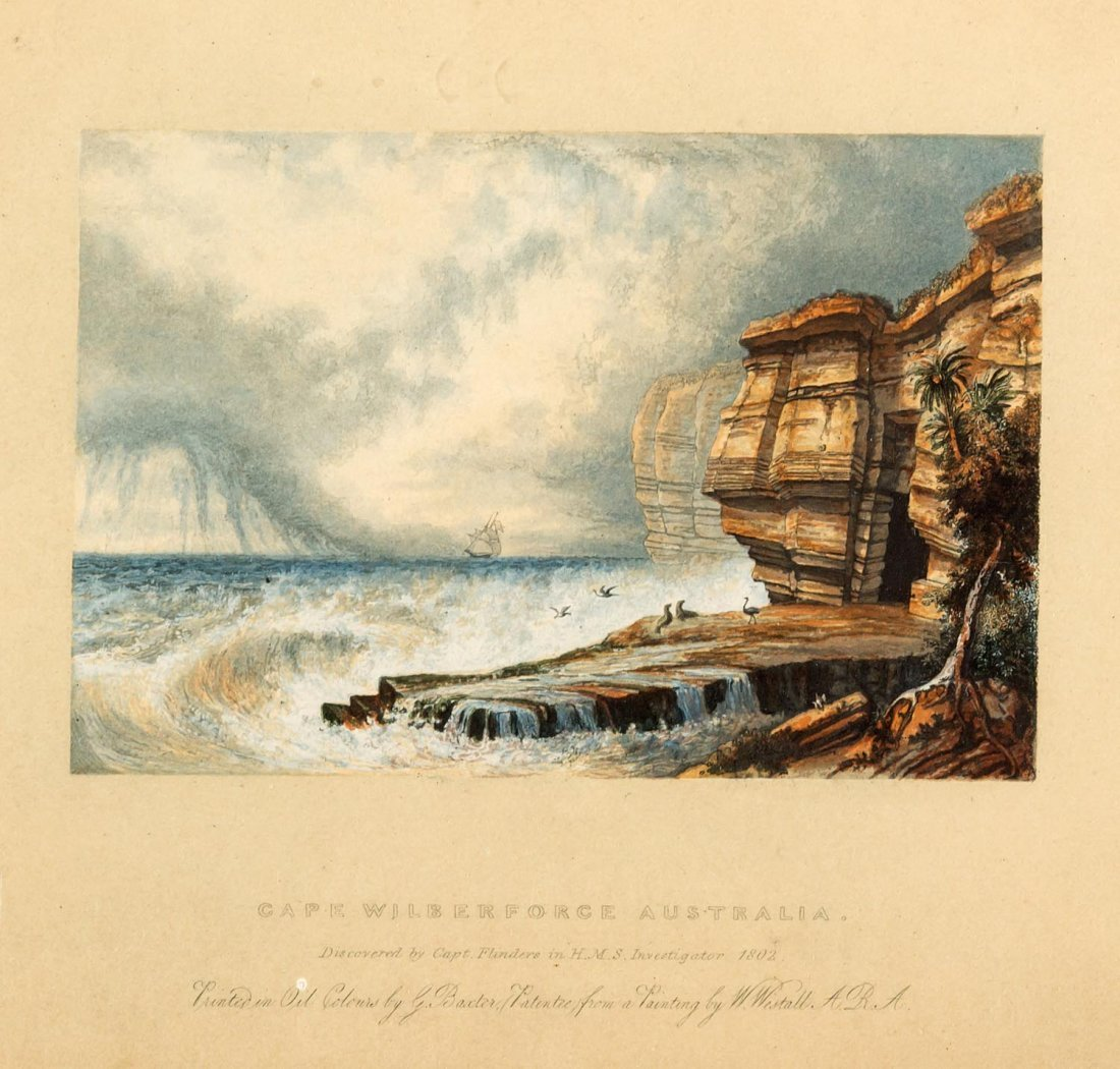 GEORGE BAXTER AFTER WILLIAM WESTALL  Cape Wilberforce