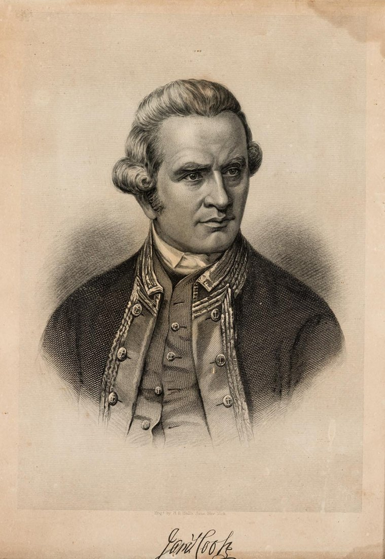 W H HALL AND SONS  Portrait of Captain Cook