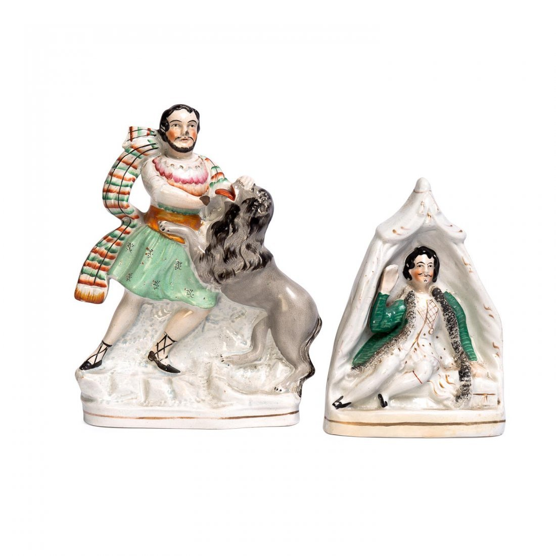 A Staffordshire portrait figure of Shakespeare's