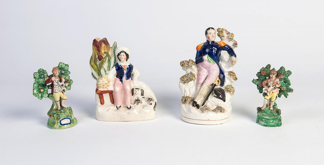 Two Staffordshire portrait figures, 19th century