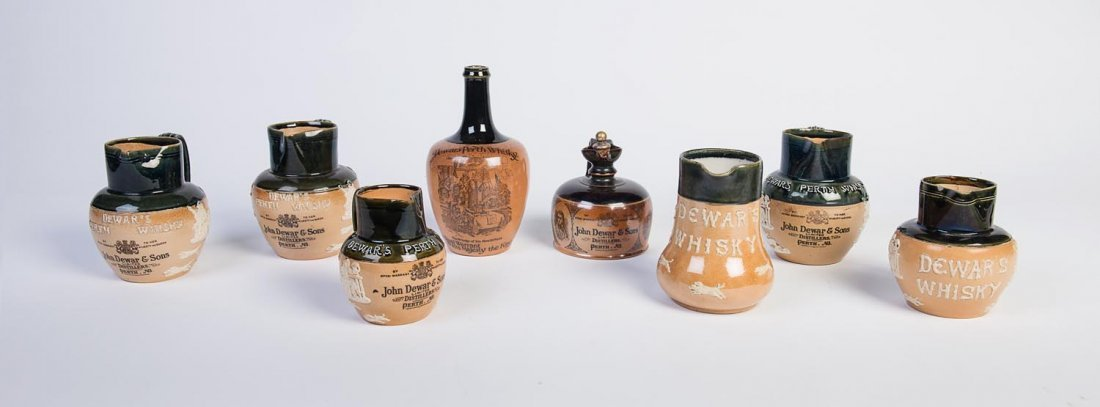 A collection of eight Doulton Lambeth salt glaze