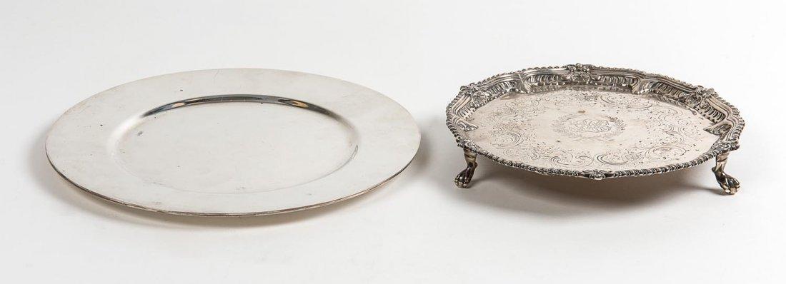 A George III sterling silver salver by Ebenezer Coker,