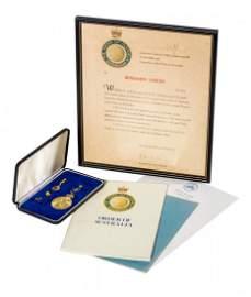 BEN LEXCEN'S ORDER OF AUSTRALIA MEDAL, medal named to