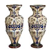 A large Doulton Lambeth stoneware vase by Frank Butler