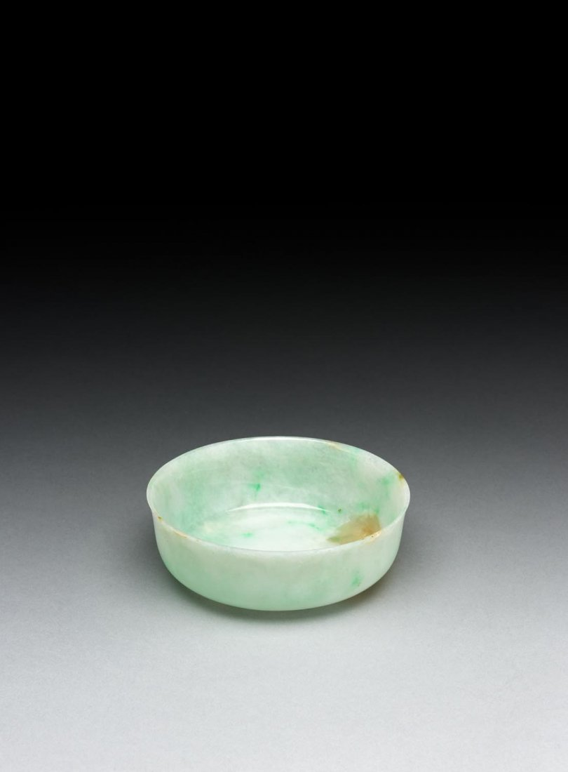 A rare fine Chinese jadeite washer, probably late Qing