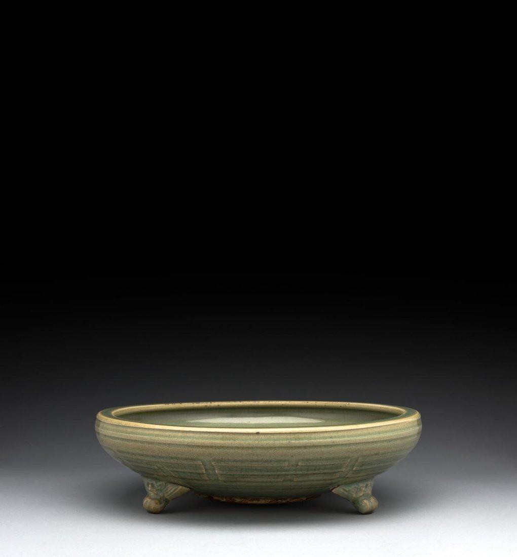 A Chinese Longquan celadon tripod censor, Ming dynasty,