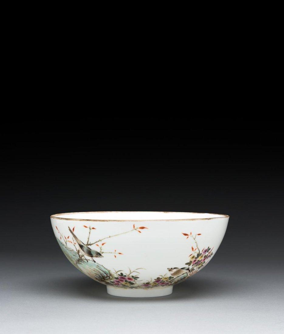 "A Chinese egg-shell porcelain bowl (""Liu Shaoqi"" ware),"