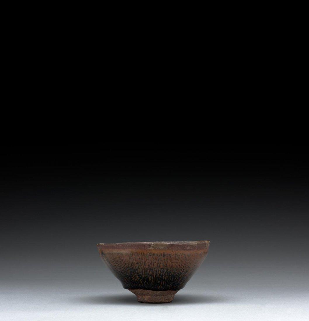 A Chinese Jianyao hare's fur glazed temmoku tea bowl,