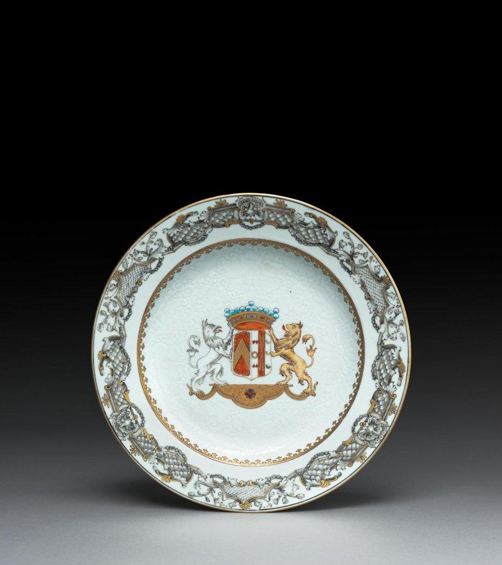 An armorial plate, early Qianlong, circa 1740