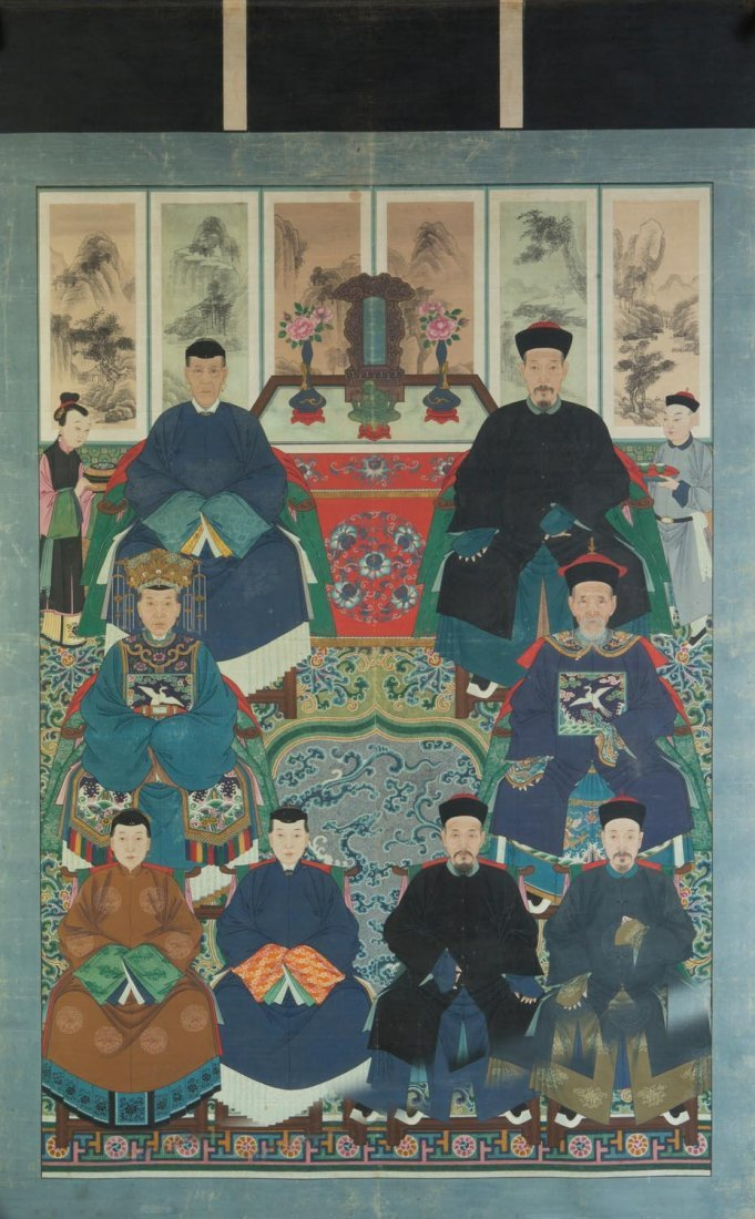 A Chinese hanging scroll, Qing dynasty (1644-1911)