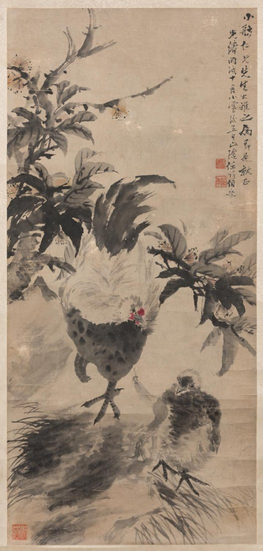 A Chinese scroll, attributed to Ren Bonian (1840-1896)
