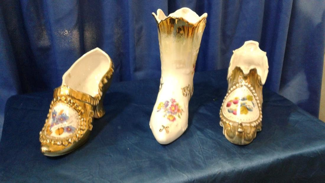 3 Porcelain Shoes