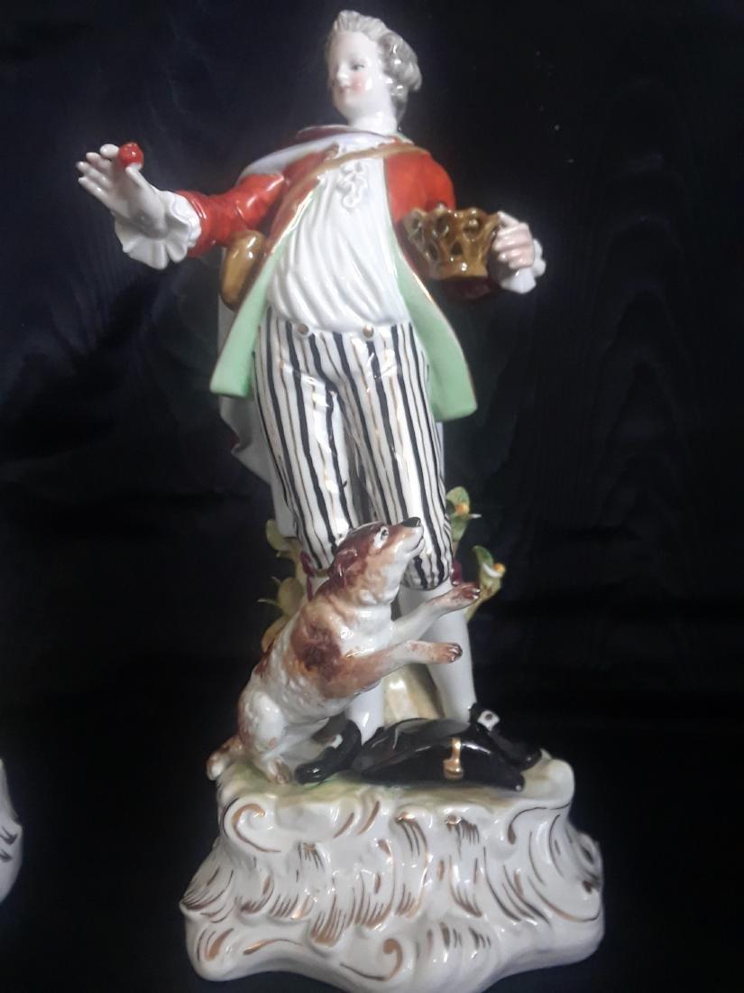 Pair of Porcelain Figurines - 5