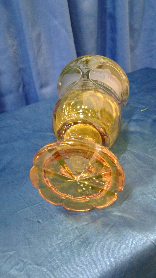 Bohemian yellow Glass Goblet - 2