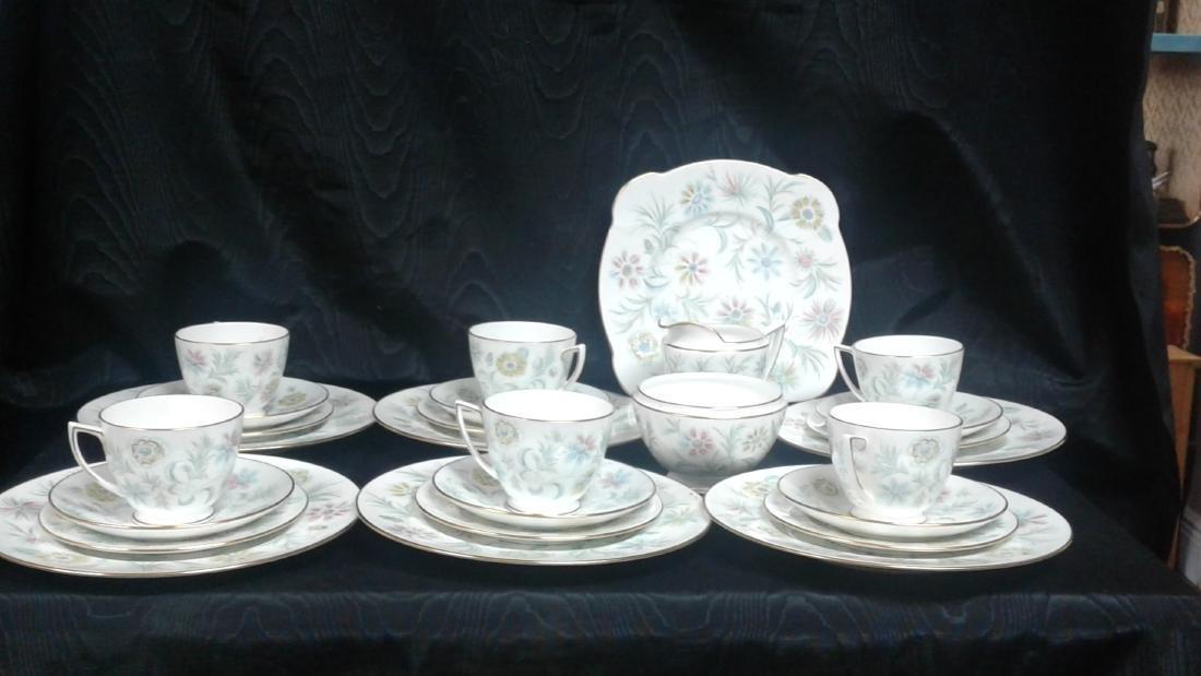 Porcelain tea set  6 cups