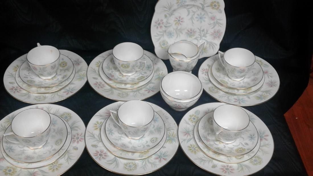 Porcelain tea set  6 cups - 2