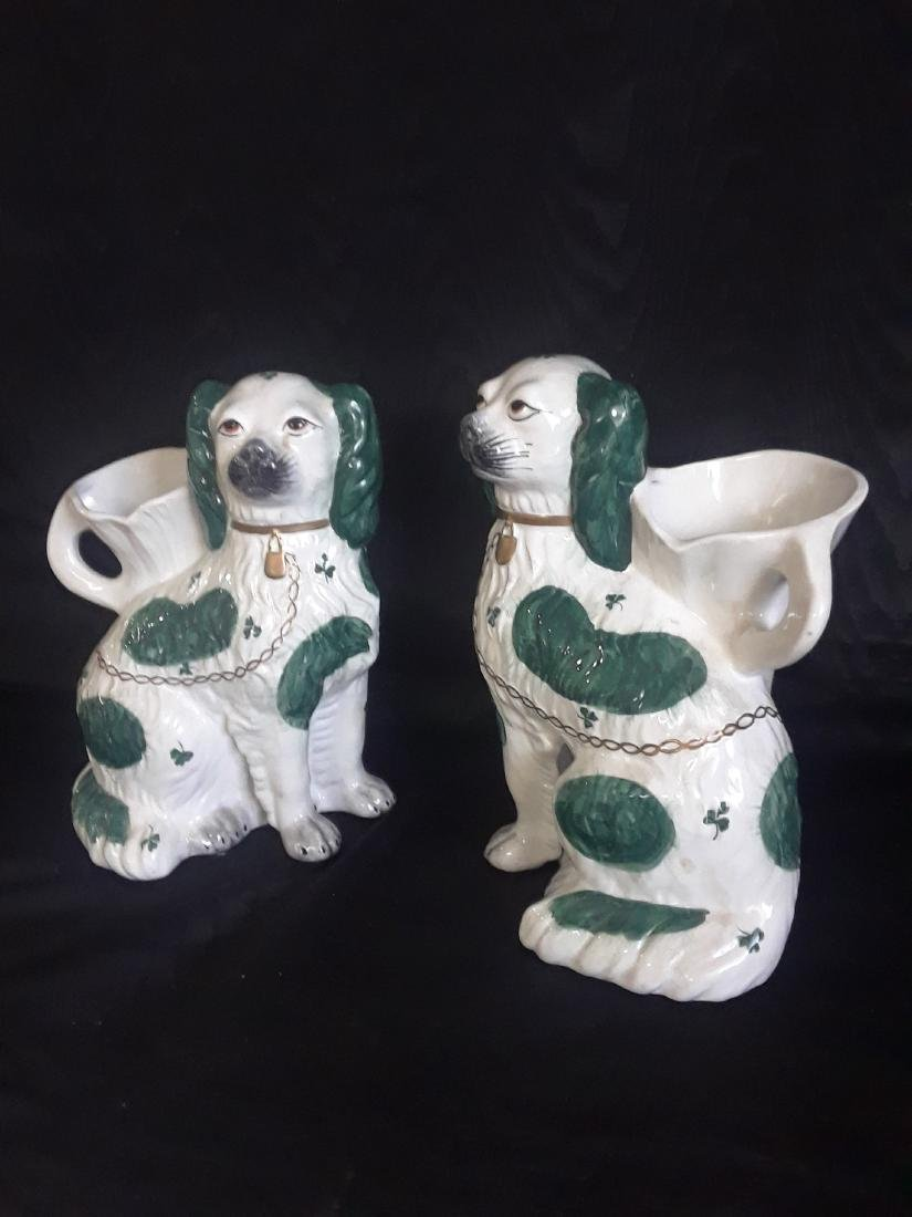 pair of flower pots in the shape of dog