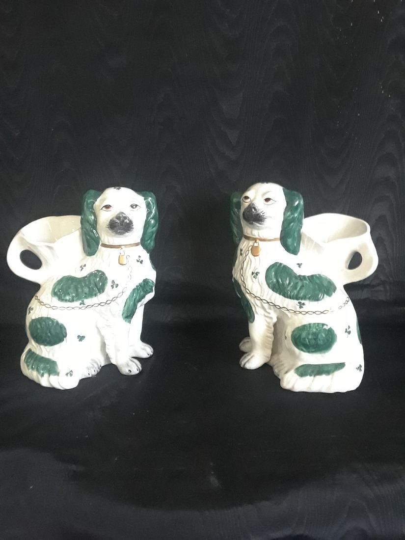 pair of flower pots in the shape of dog - 2