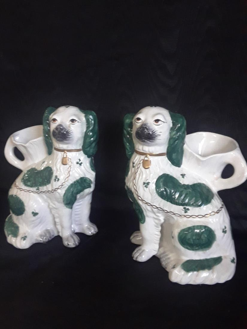 pair of flower pots in the shape of dog - 3