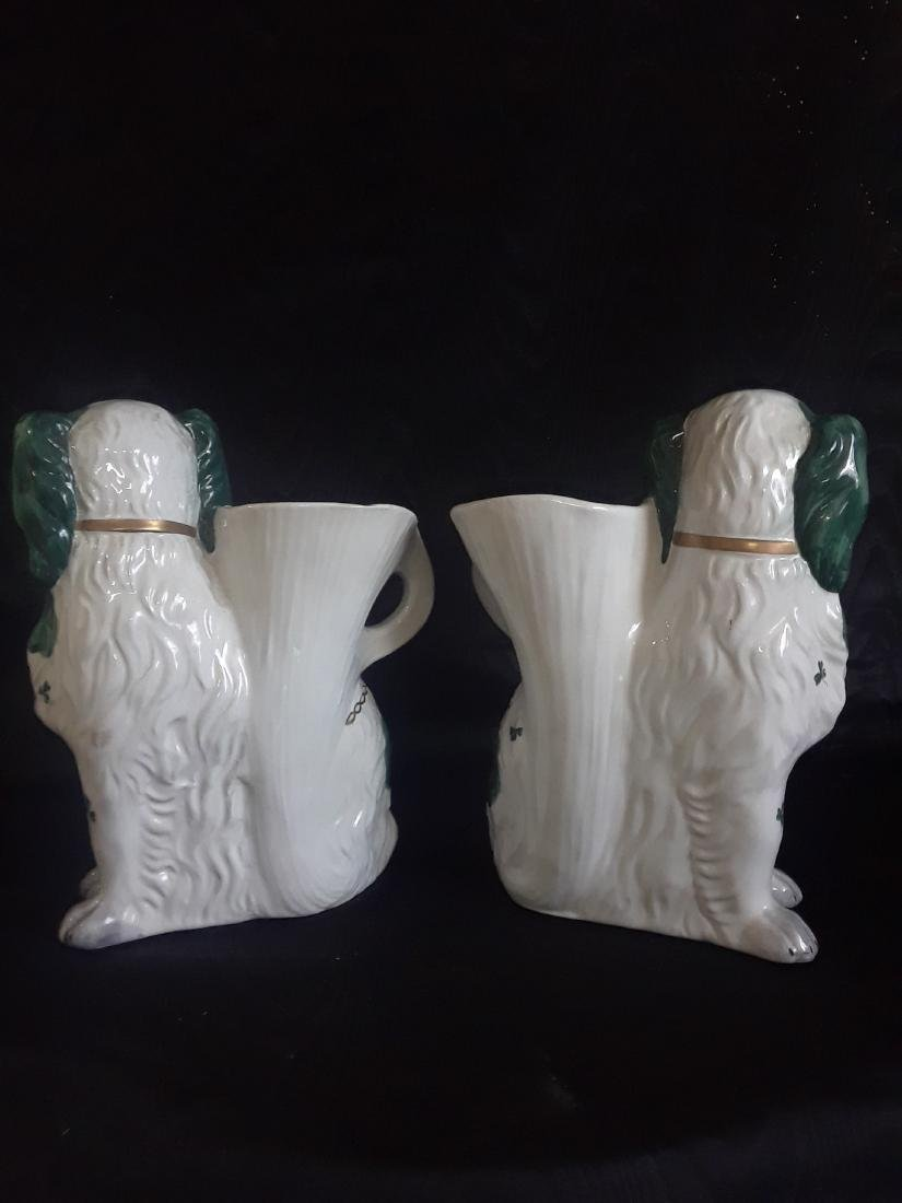 pair of flower pots in the shape of dog - 5