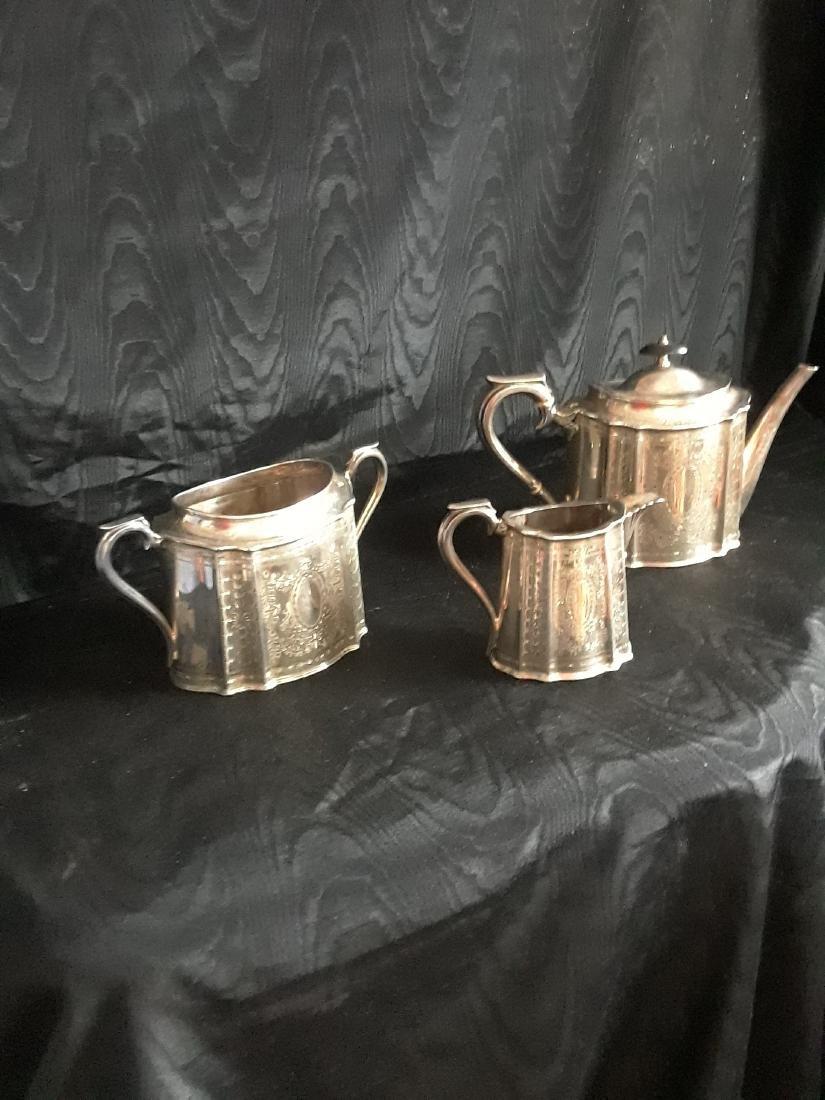 Victorian silver tea set
