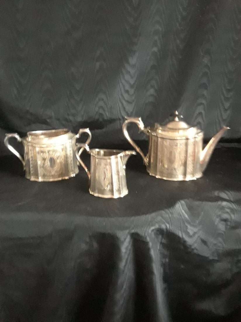 Victorian silver tea set - 2