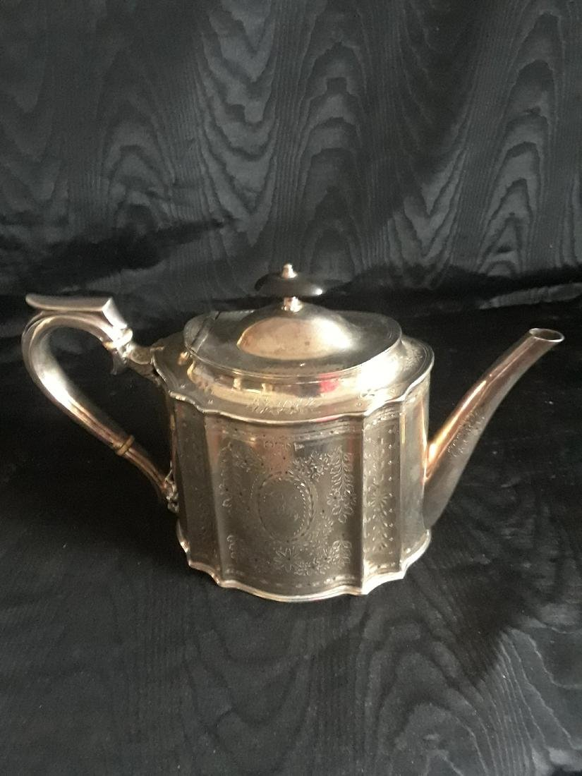 Victorian silver tea set - 3