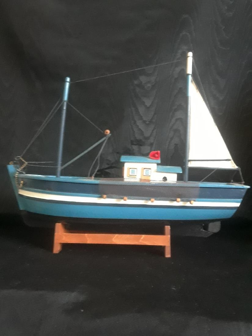 fishing boat with sail - 2
