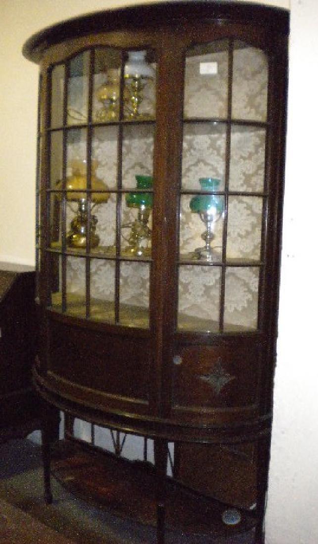 Demi-lune display cabinet