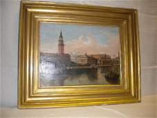 Italian painting on wood Venezia