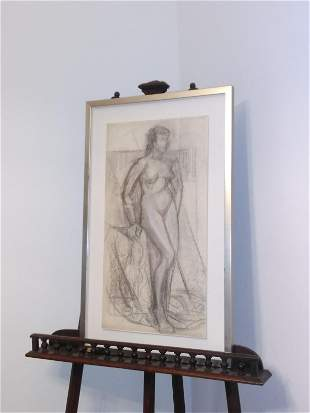 nude of a woman at l'atelier