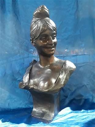 Large art nouveau bronze