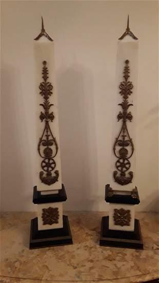 Pair of magnificent Obelisks