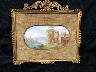 French enameled painting