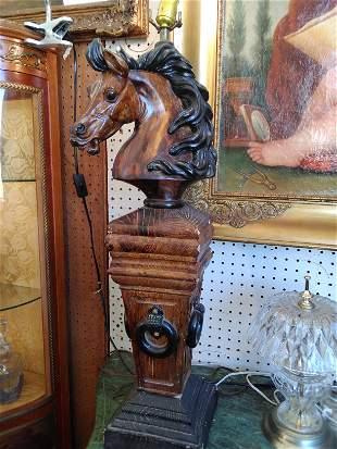 horse bust lamp