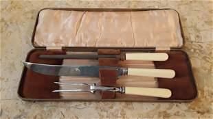 3 piece roast meat cutlery set