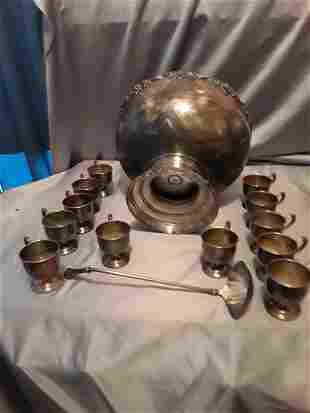 silver plate punch set