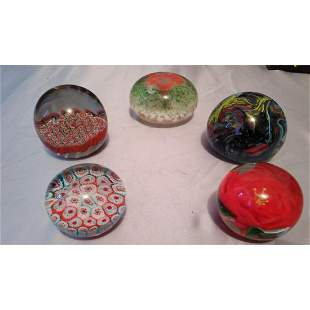Lot of 5 Paperweight