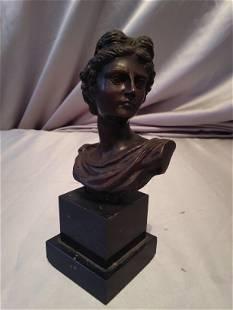 Italian Bust Bronze Young Woman