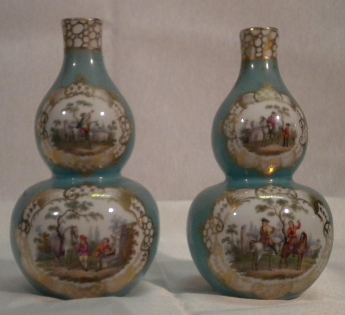 1: Pair of German Vases