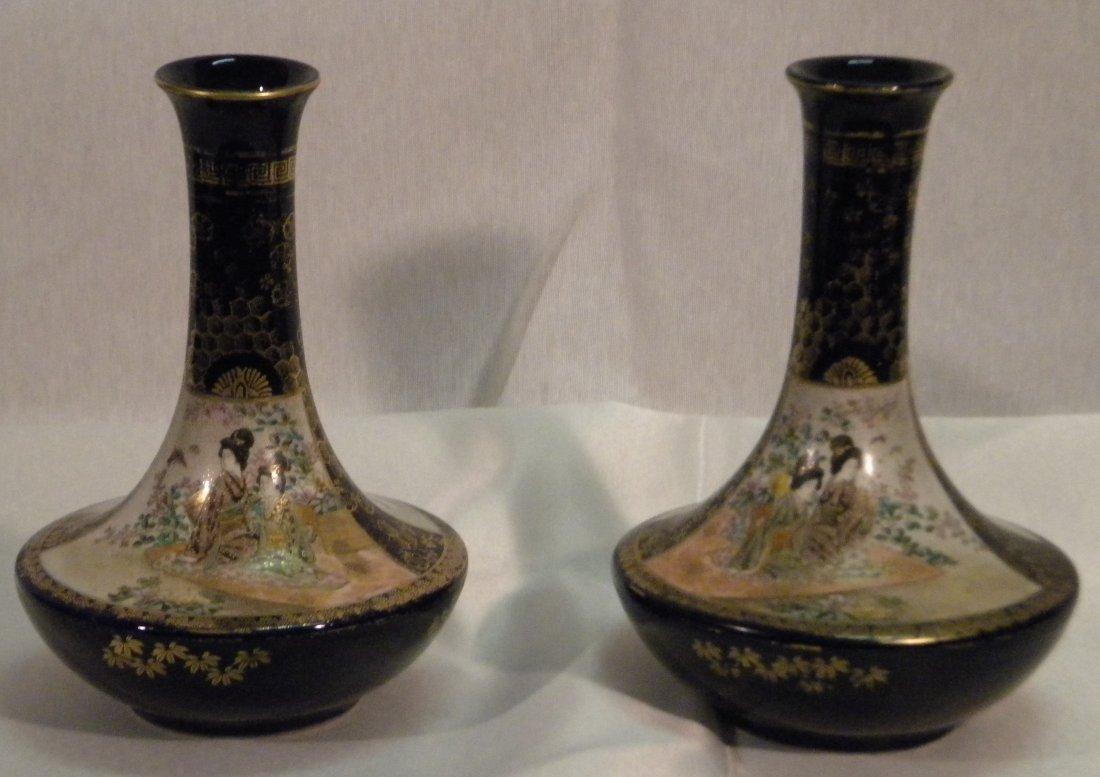 6: Pair of Satsuma vases