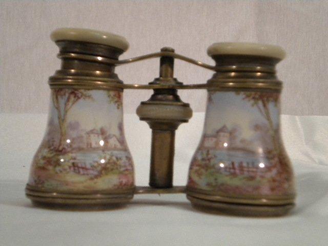 15: Old viennese enamel binoculars